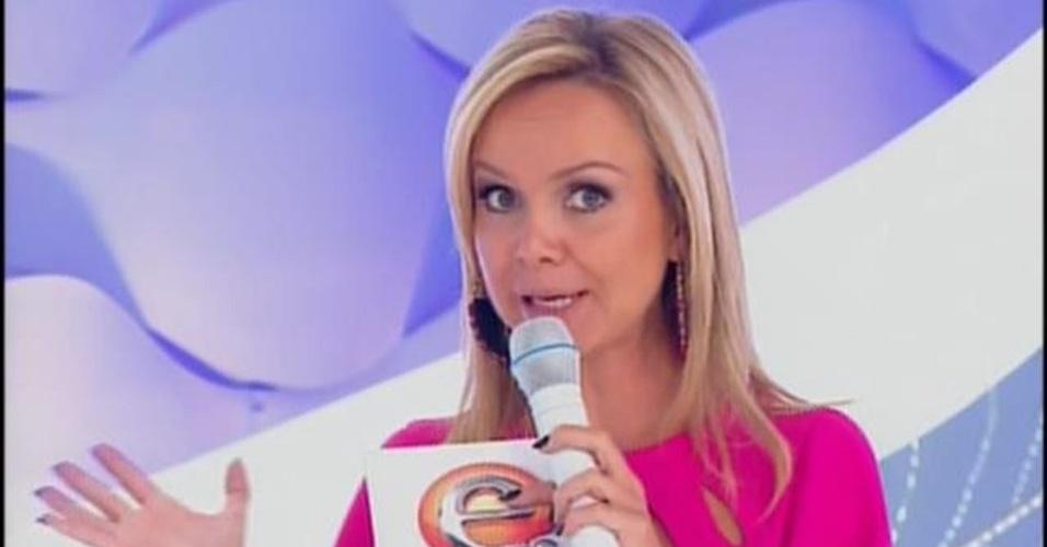 30.mar.2014 - Eliana faz desabafo sobre o fim do casamento em seu programa