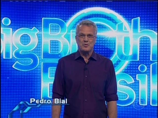 31.mar.2014 - Pedro Bial inicia o último programa ao vivo antes da final do