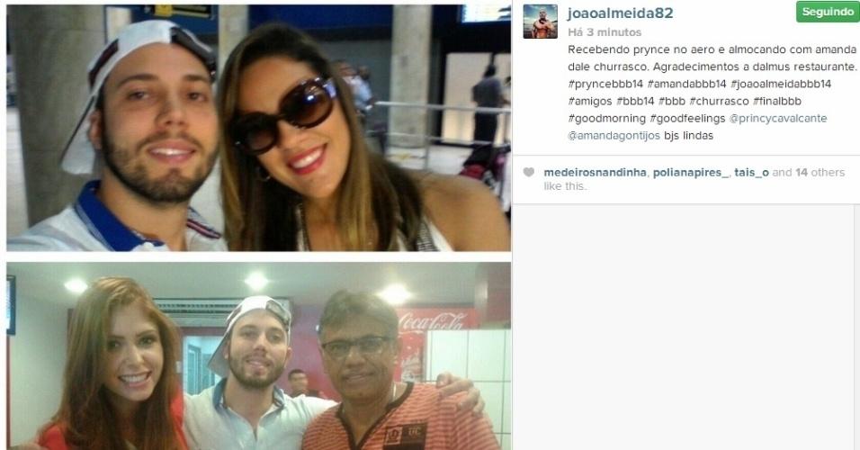 1º.abril.2014 - Depois de encontra Princy no aeroporto, João Almeida, o primeiro eliminado do