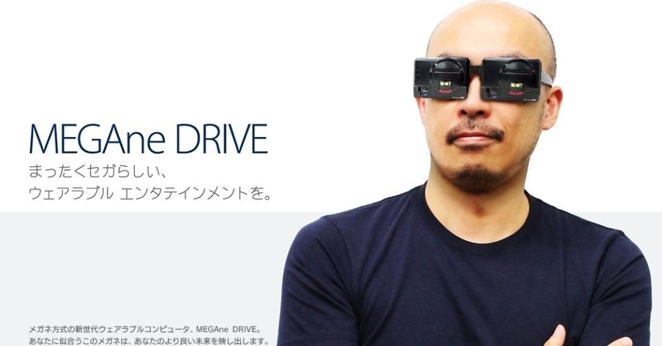A brincadeira da Sega do Japão em 2014 foi um óculos baseado no visual do Mega Drive (aliás, 'megane' em japonês significa óculos)