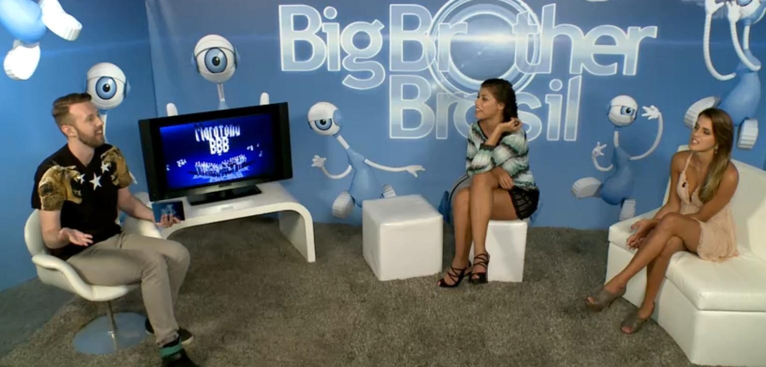 02.abr.2014 - Franciele e Diego discutem com Angela e o carioca abandona o chat