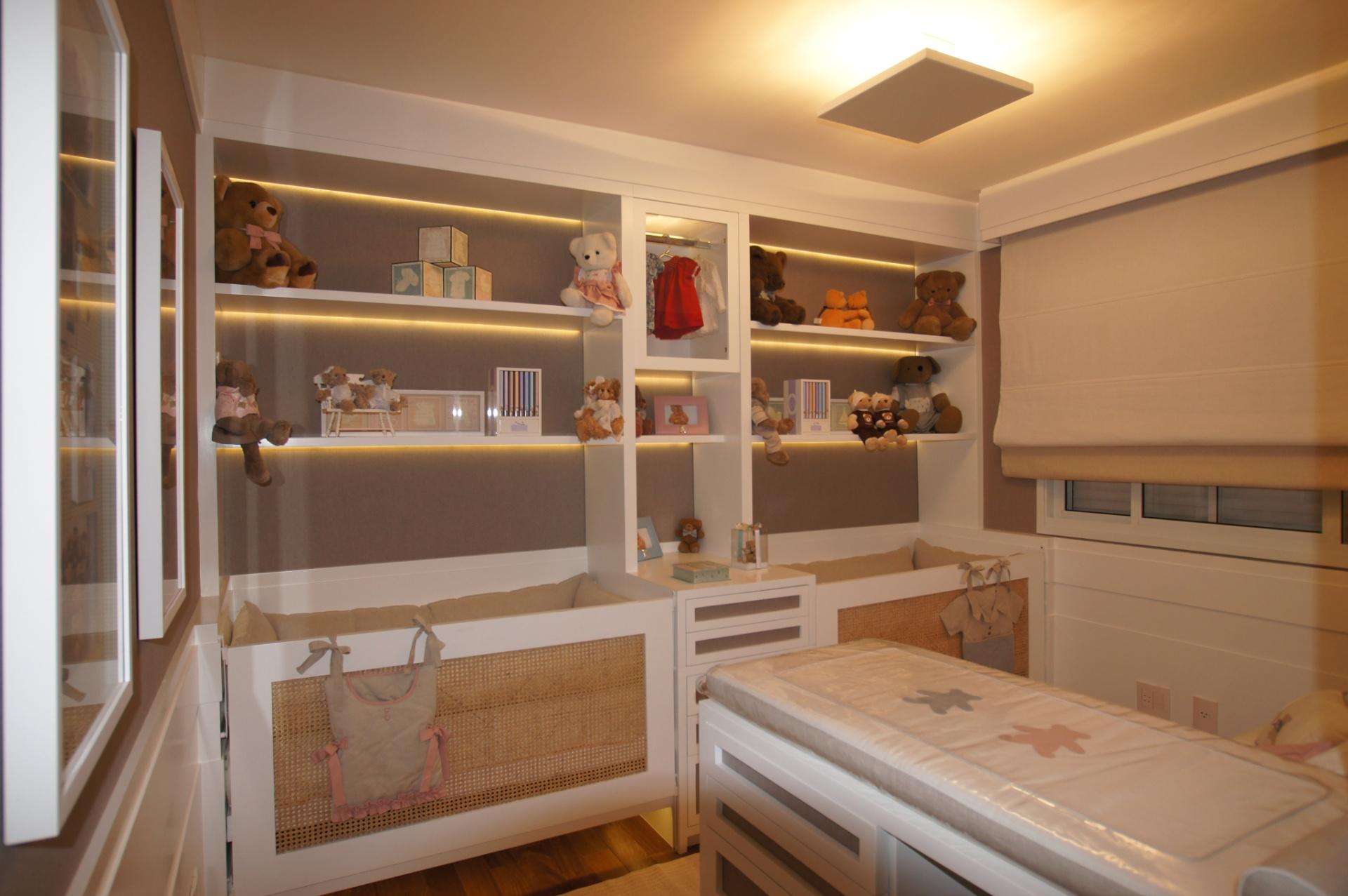 Confira sugestões para decorar o quarto de bebês e ~ Quarto Planejado Para Gemeas