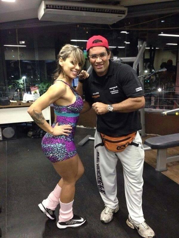 Vanessa mesquita com o treinador Reco PH