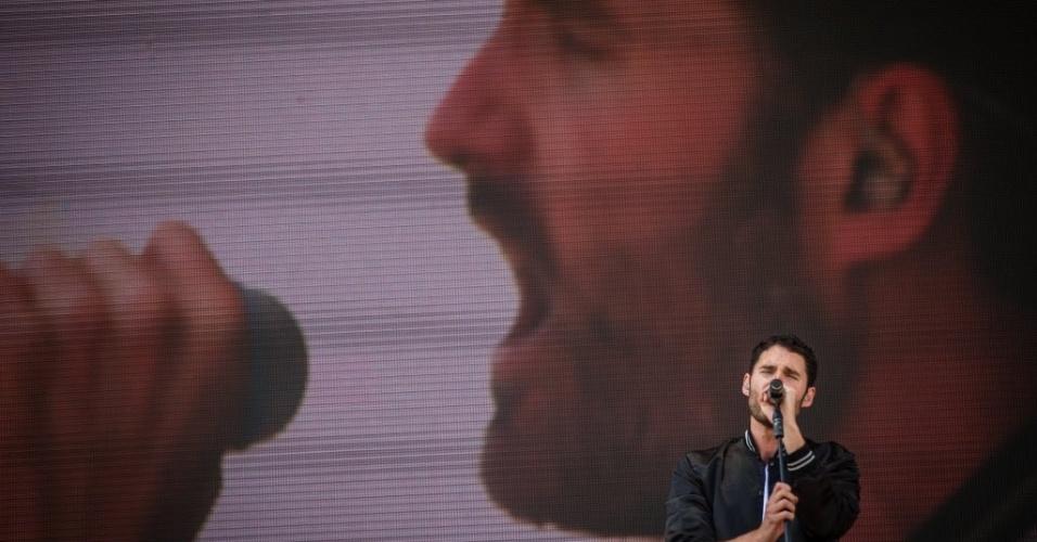 05.abr.2014 - Banda Capital Cities se apresenta no Festival Lollapalooza 2014, no Autódromo de Interlagos, em São Paulo