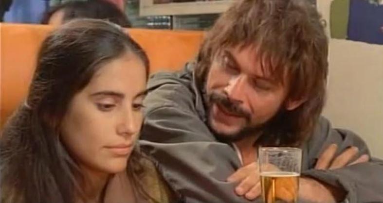1986 - Os atores José Wilker e Glória Pires em cena do filme