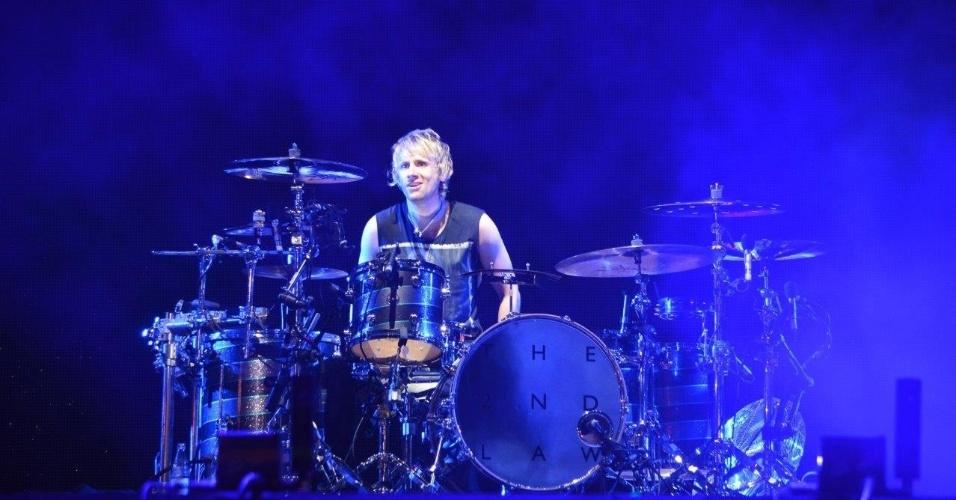 5.abr.2014 - Muse se apresenta no Lollapalooza 2014 no Autódromo de Interlagos, em São Paulo