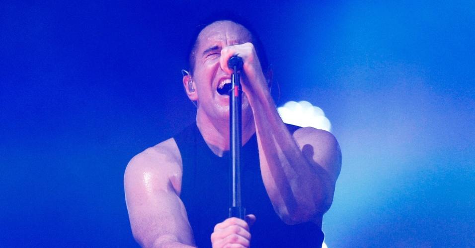 5.abr.2014 - Nine Inch Nails se apresenta no Lollapalooza 2014 no Autódromo de Interlagos, em São Paulo