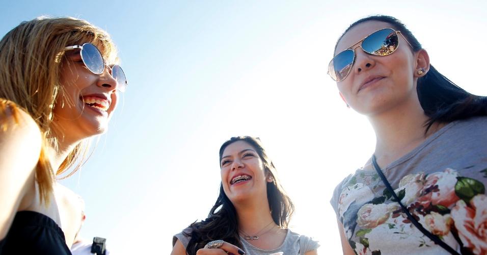 05.abr.2014 - Fãs no show do Julian Casablancas no Lollapalooza 2014 no Autódromo de Interlagos, em São Paulo