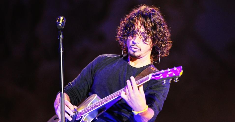 6.abr.2014 - Soundgarden se apresenta no segundo dia do Lollapalooza 2014 no Autódromo de Interlagos, em São Paulo