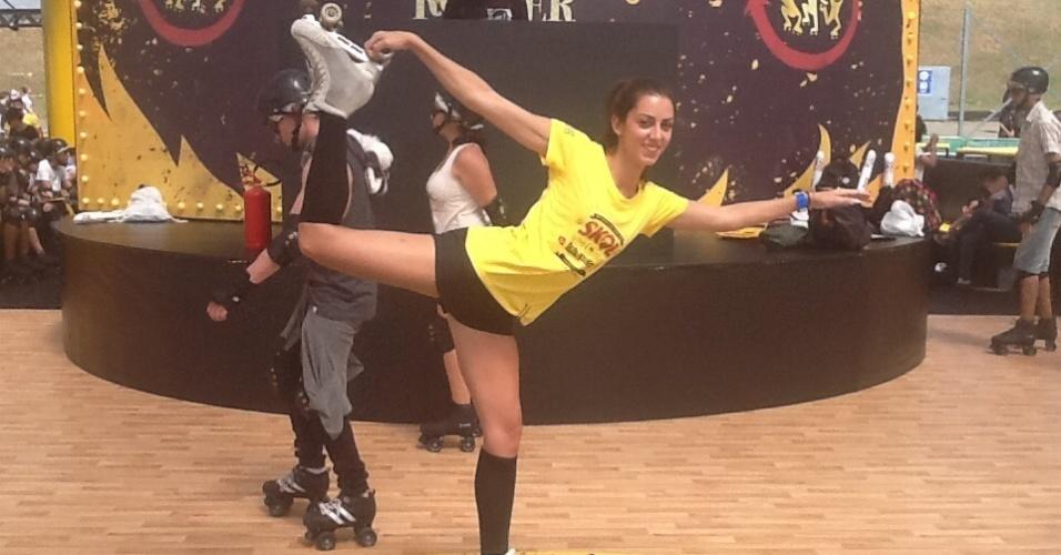 Renata Caveiro, vice-campeã brasileira de patinação artística