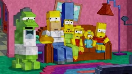 """Moe vira um Creeper na abertura de """"Simpsons"""" inspirada em """"Minecraft"""""""