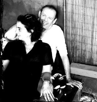 Claudia Montenegro e o ator José Wilker