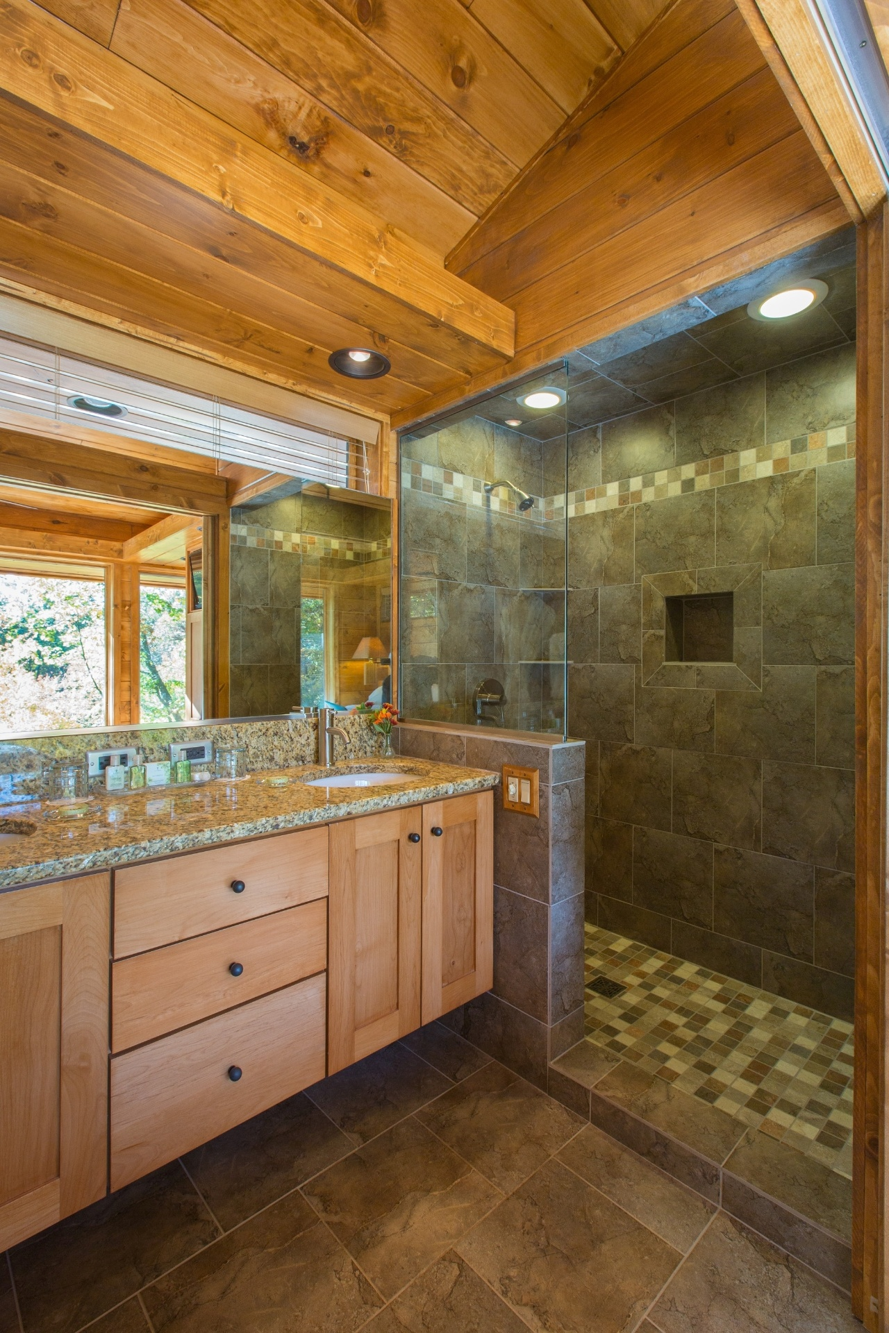 O banheiro da casa de campo