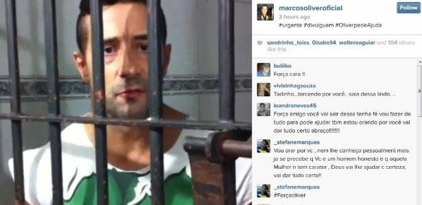 Preso, Marcos Oliver pede ajuda na internet