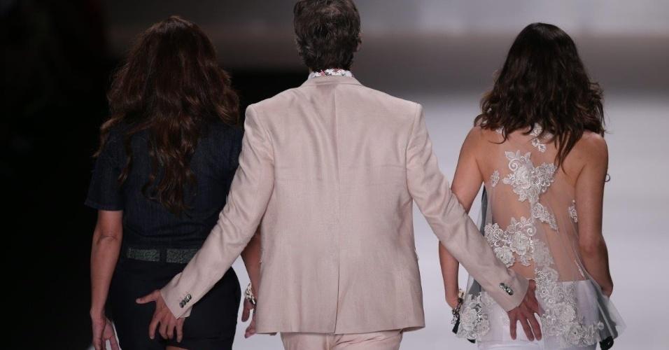 """Gianecchini diz que """"mão boba"""" em Giovanna e Tainá foi homenagem a Wilker"""