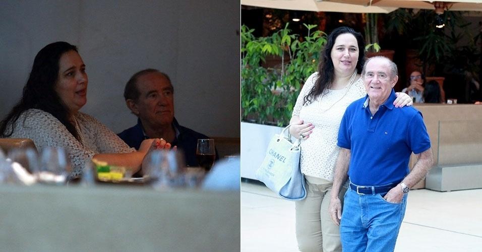Após cirurgia, Renato Aragão aparece em público mais esbelto