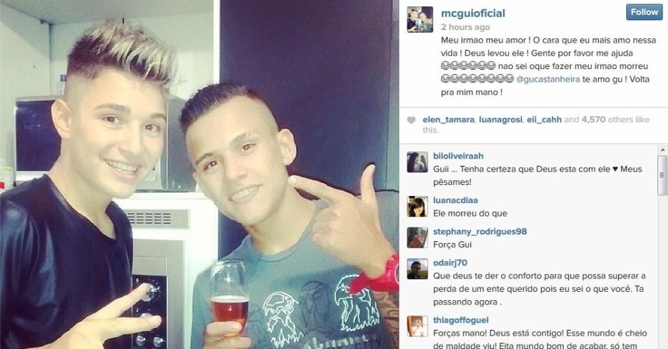 Morre O Irmão Do Funkeiro MC Gui; Jovem Tinha 17 Anos