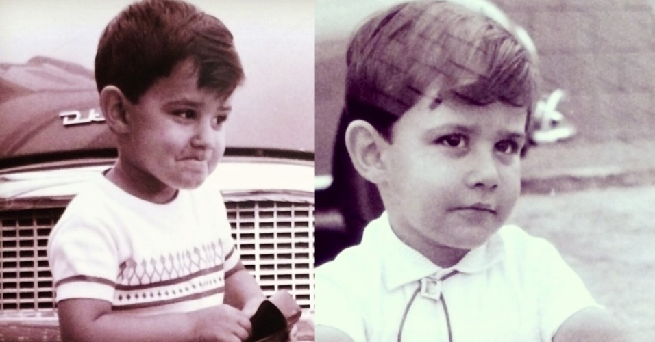 """21.abr.2014- William Bonner mostra fotos da sua infância em rede social: """"O tio, ainda com carinha de sobrinho, mas já engravatado. Infância no Tatuapé"""", escreveu ele na legenda de uma das imagens"""