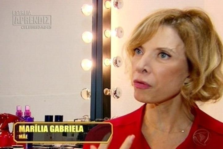 22.abr.2014 - Marília Gabriela, mãe do ator e apresentador Christiano Cochrane, também deu um depoimento falando da dedicação do filho