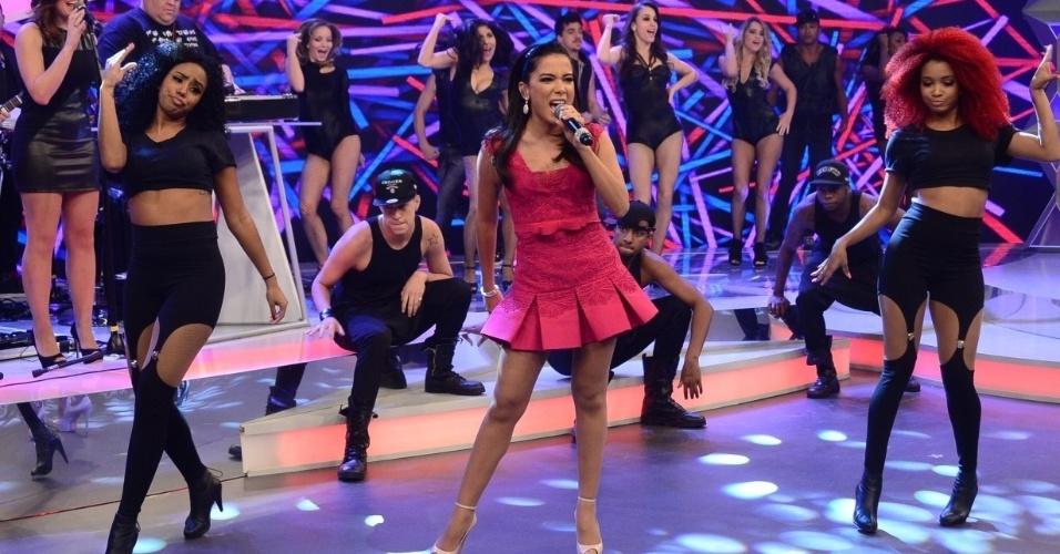 A primeira atração musical do programa de Sabrina Sato será Anitta que dança, canta e apronta no palco com a apresentadora
