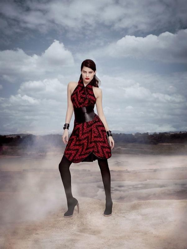 Isabeli Fontana na campanha de Inverno 2014 de Tufi Duek