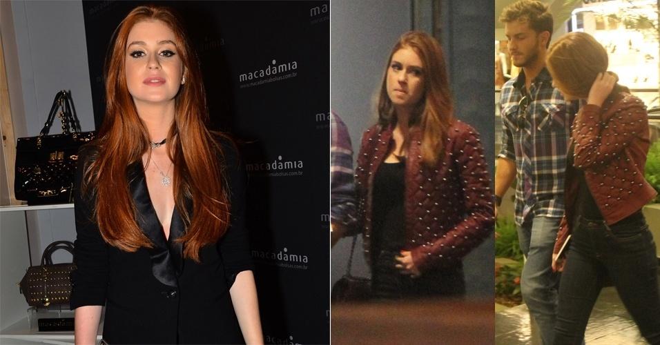25.abr.2014 - Marina Ruy Barbosa passeia por shopping carioca e exibe novo corte de cabelo