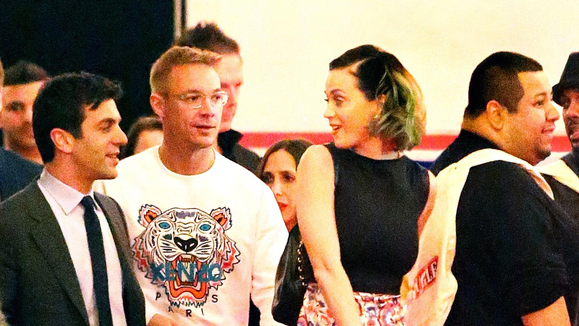 24.abr.2014 - Katy Perry é fotografada ao lado do DJ Diplo, apontado como seu novo affair, em nova York
