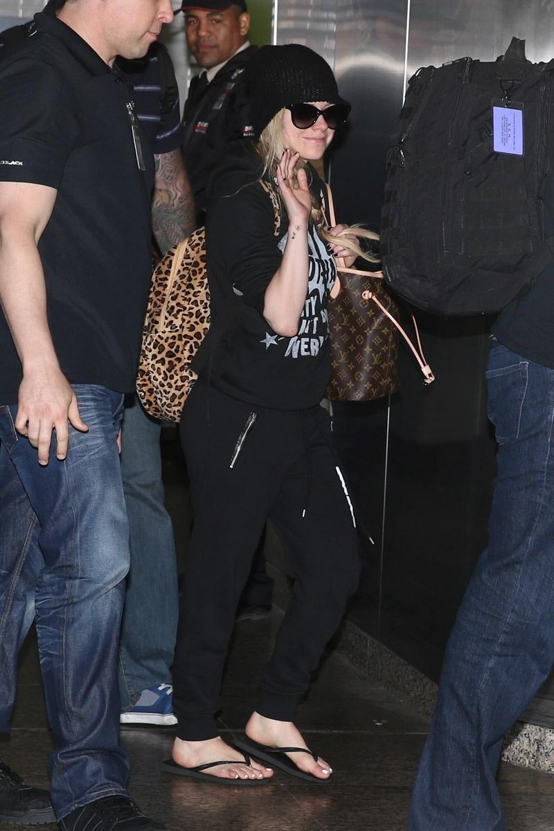 28.abr.2014- A cantora canadense Avril Lavigne faz uma série de shows no Brasil nesta semana