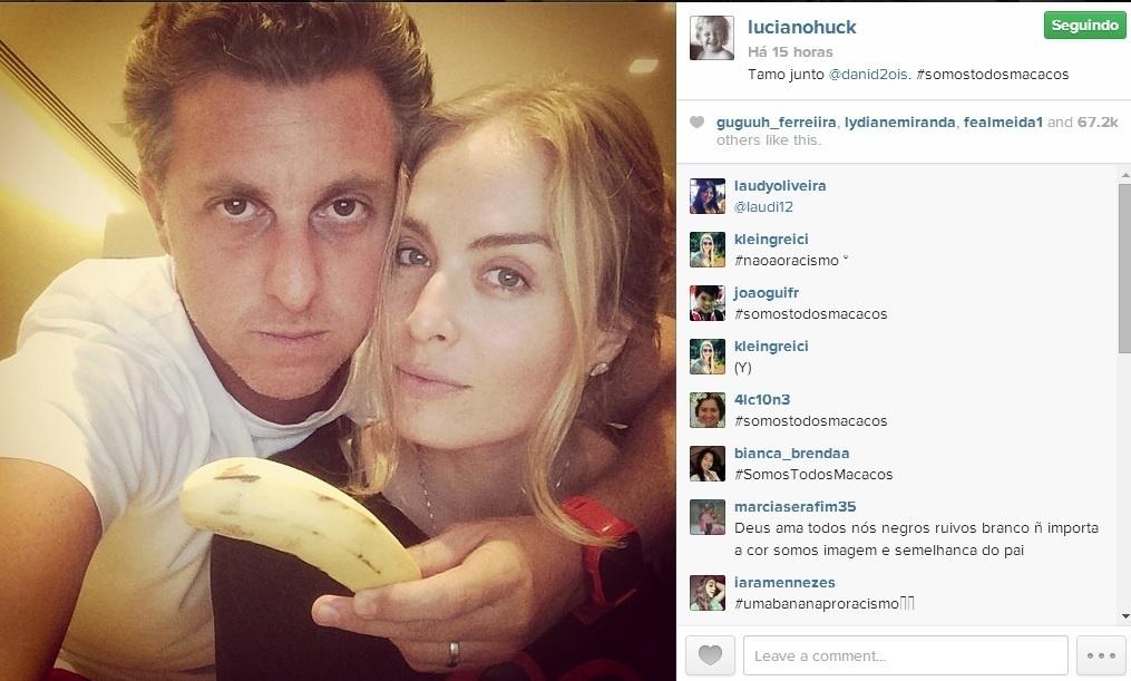 Angélica e Luciano Huck apoiam Daniel Alves após episódio de racismo.