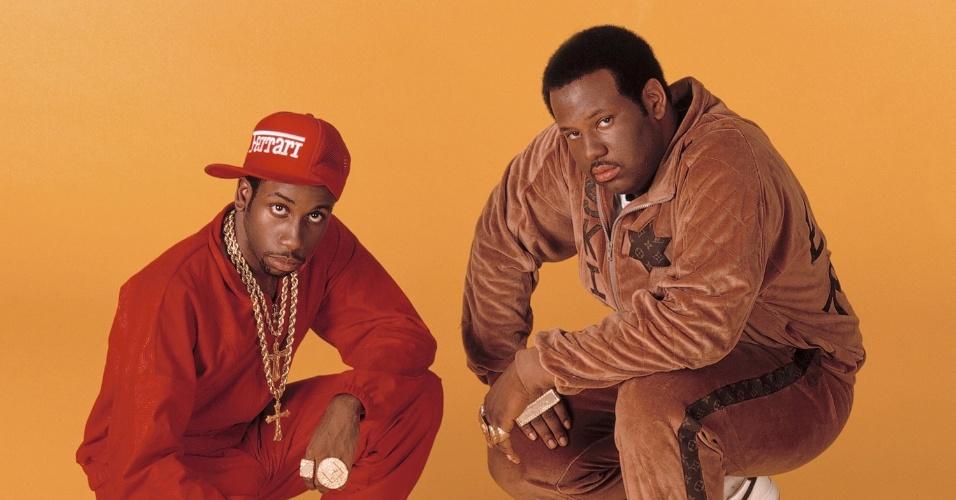 """Rob Base & DJ E-Z Rock posam na épóca do lançamento de """"It Takes Two"""". O rapper à direita morreu no fim de semana aos 46 anos"""