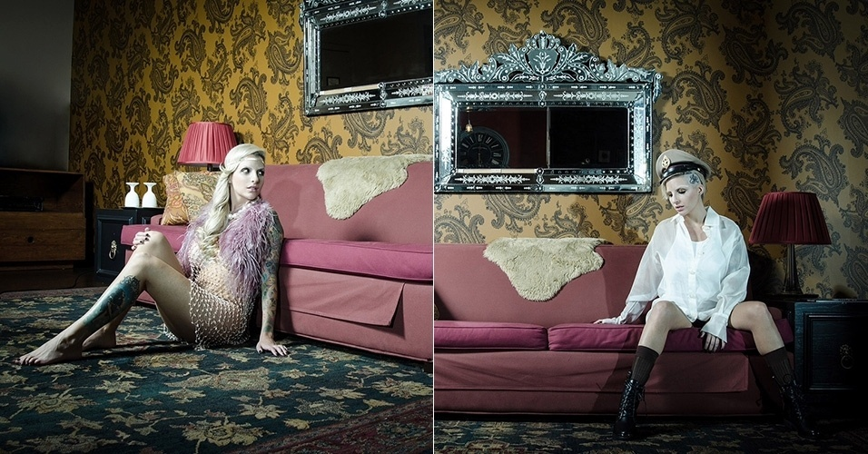 6.mai.2014 - A ex-BBB Clara Aguilar fez um ensaio fotográfico em Hollywood, nos Estados Unidos, com a temática