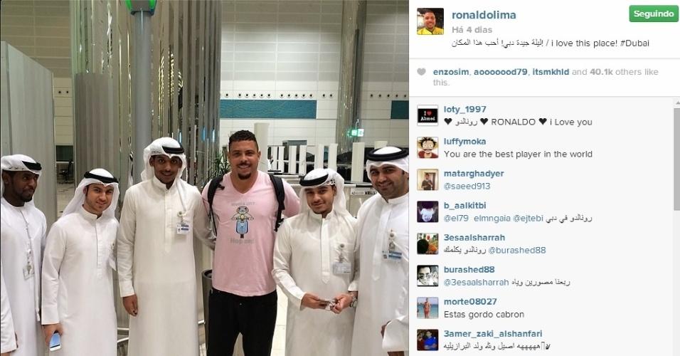 Ronaldo posta foto em Dubai e diz: