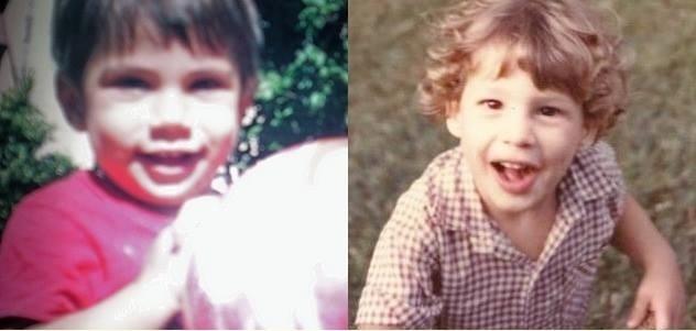 Na esquerda Pável e à direita Cauã, ambos quando tinham 1 ano