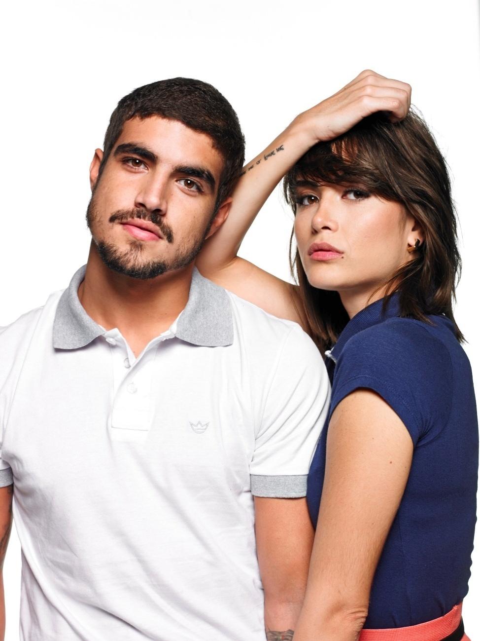 Caio Castro e Maria Casadevall, que já foram flagrados várias vezes juntos, participam de campanha de Dia dos Namorados para marca de roupas