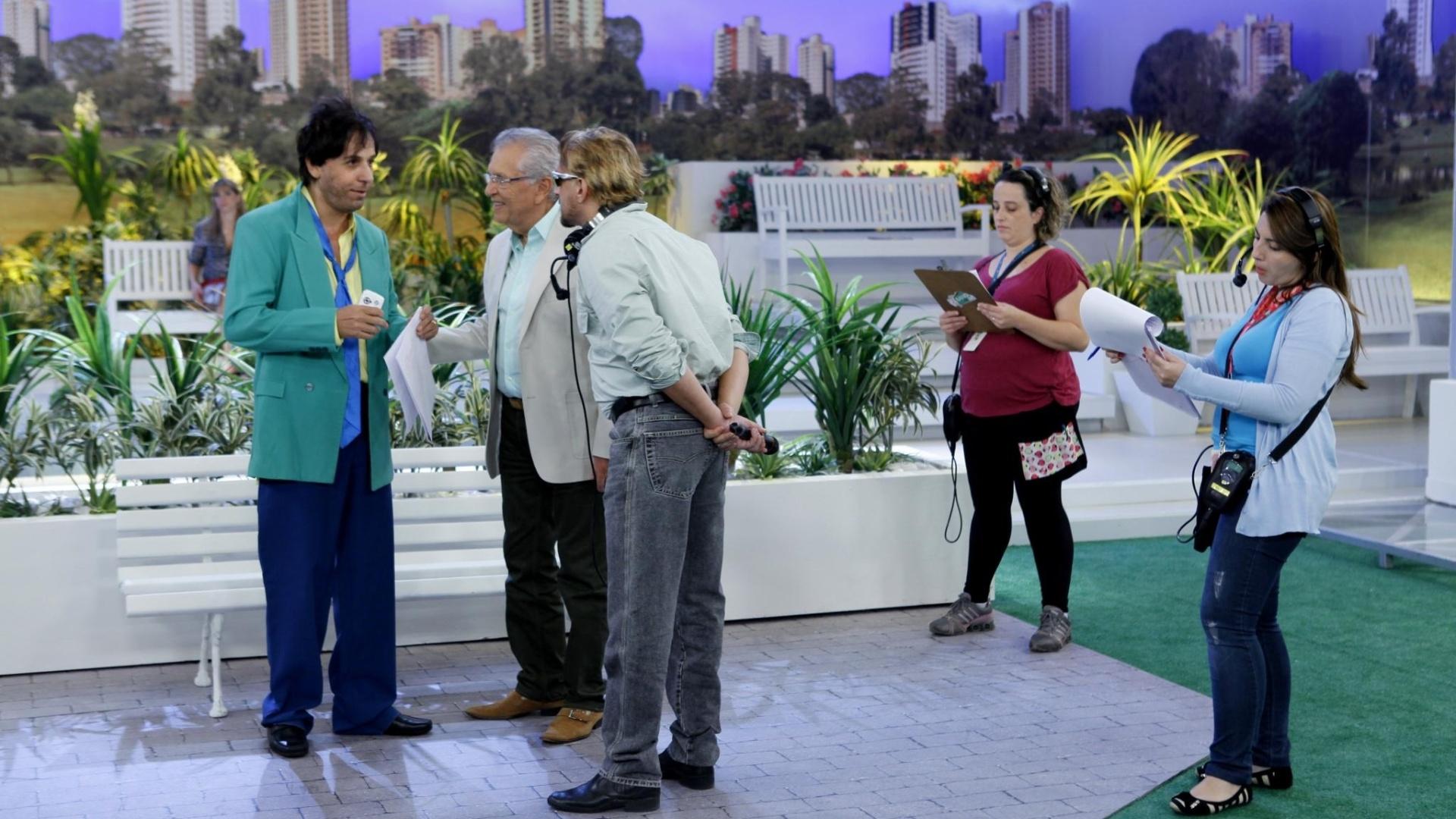 maio.2014 - De volta ao Brasil, Tom Cavalcante grava participação especial no humorístico