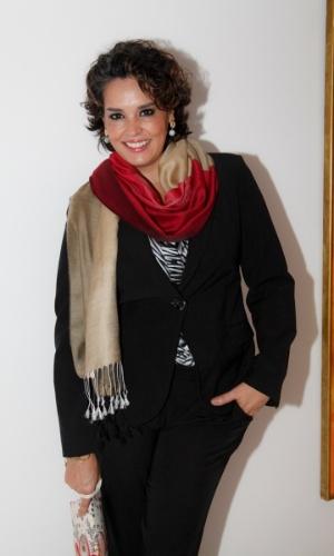 14.mai.2014 - A atriz Suzy Rêgo vai ao aniversário do consultor de etiqueta Fábio Arruda em São Paulo
