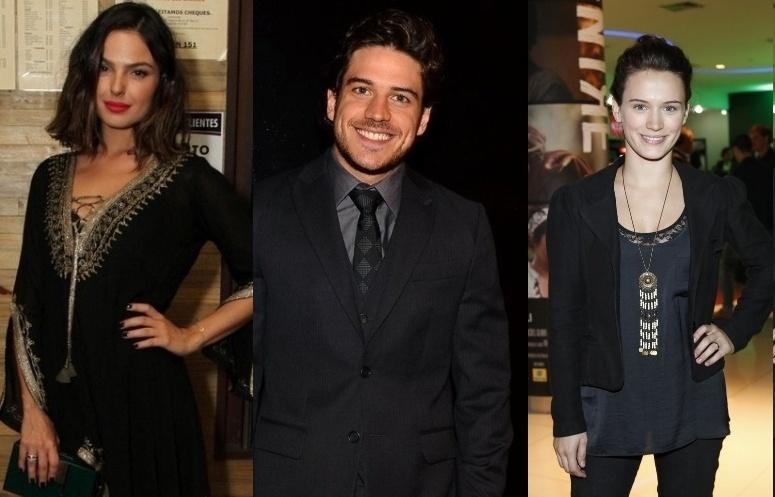 16.mai.2014- Isis Valverde, Marco Pigossi e Bianca Bin formam um triângulo amoroso em