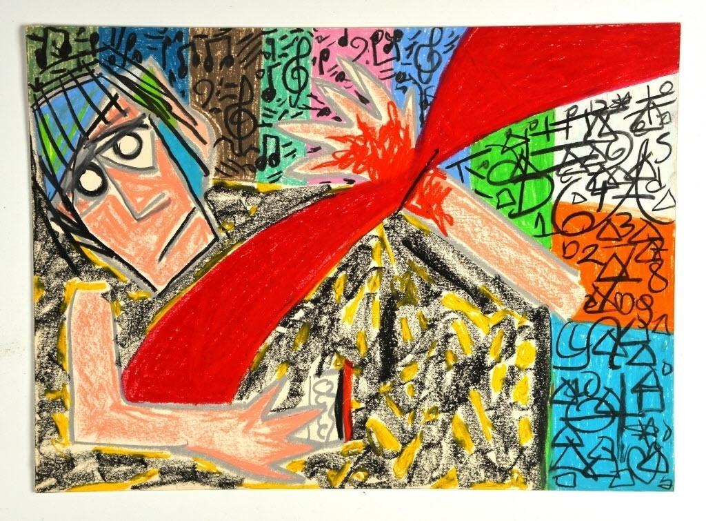 12.mai.2014 - Desenho feito por Renato Russo que encontra-se no apartamento onde o cantor morou entre 1990 e 1996, no bairro de Ipanema, no Rio de Janeiro, mantido pelo filho Giuliano Manfredini