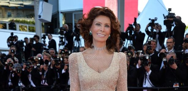 Sophia Loren, durante o Festival de Cannes 2014