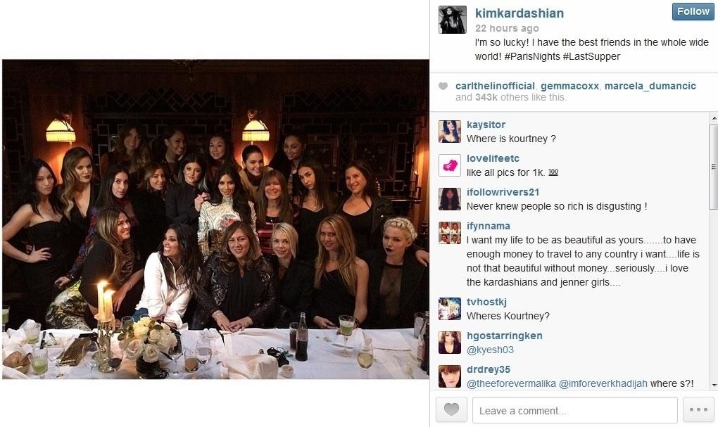 22.mai.2013 - Kim Kardashian reuniu um grupo de amigas para sua despedida de solteira