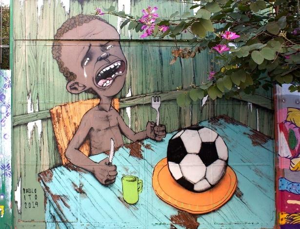 Graffiti de Paulo Ito na Vila Madalena em São Paulo