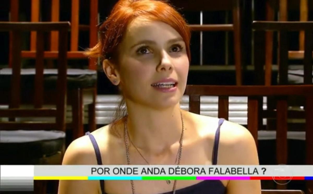 28.mai.2014 - Débora Falabella fala sobre