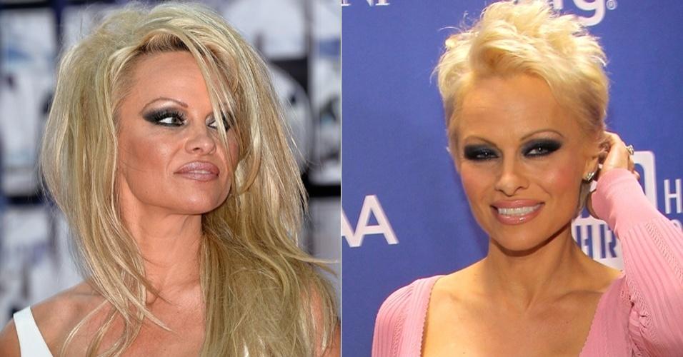 Cabelos dos famosos - Pamela Anderson
