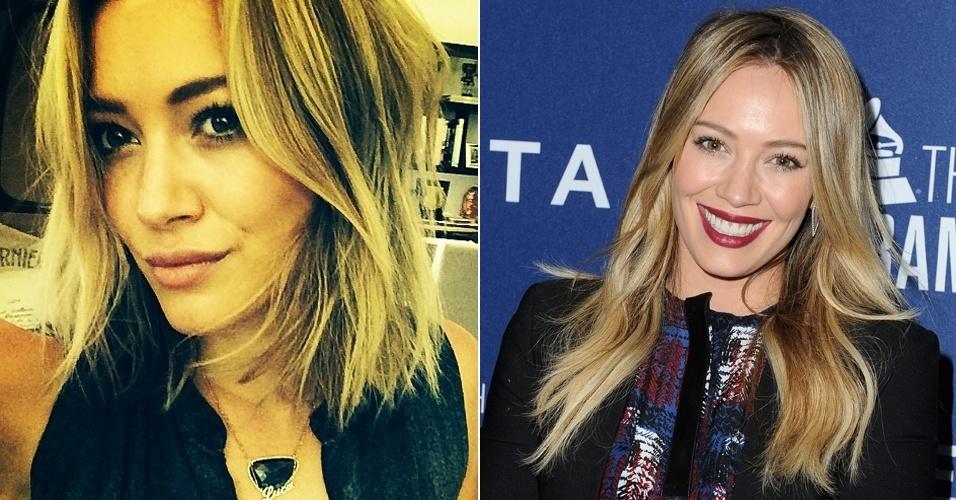 30.mai.2014 - Hillary Duff aparece de cabelos curtos