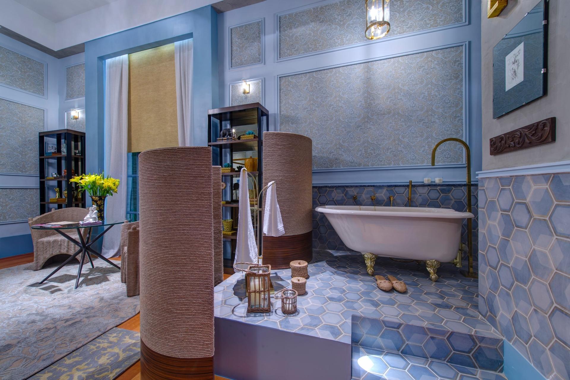 Espaços reduzidos: ideias de decoração para salas banheiros e  #465B85 1920 1281