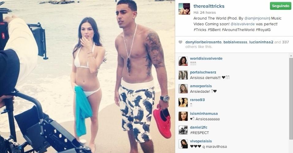Ísis Valverde grava clipe do rapper T-Trick em Miami