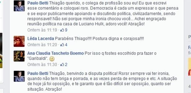 Paulo Betti respondeu para Thiago Lacerda