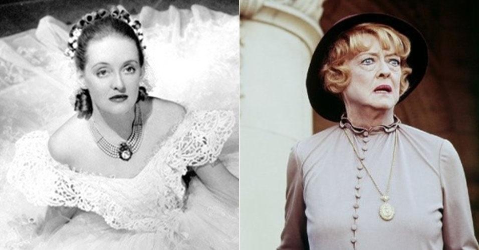 """Em 1938, Bette Davis ganhou seu segundo Oscar por """"Jezebel"""". Quarenta anos depois, aos 70, ela atuou no filme """"A Volta da Montanha Enfeitiçada"""""""