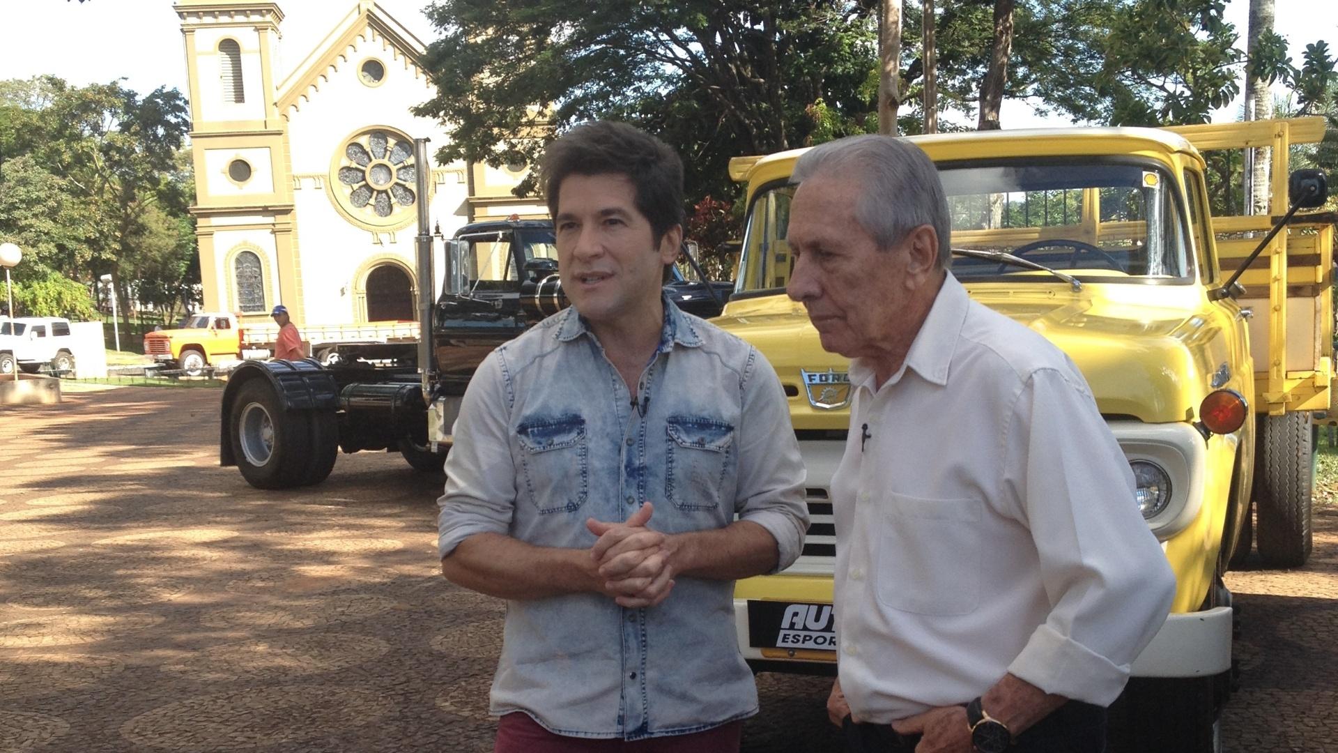 O cantor Daniel e seu pai, José Camillo, gravaram o programa