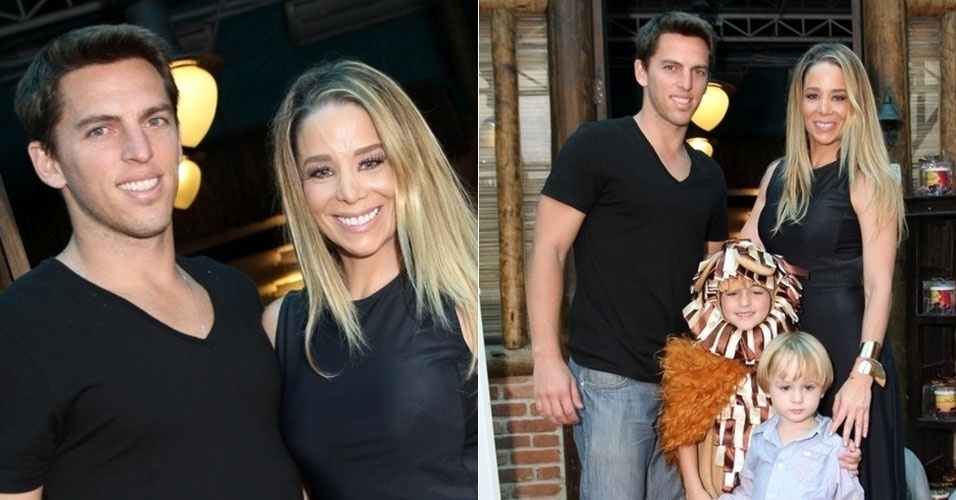 A atriz Danielle Winits e seu namorado, o jogador de futebol Amaury Nunes